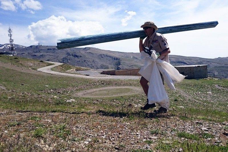 En Sierra Nevada hay escombreras situadas a casi 3.000 metros de altitud / Foto: Batallón Basurista